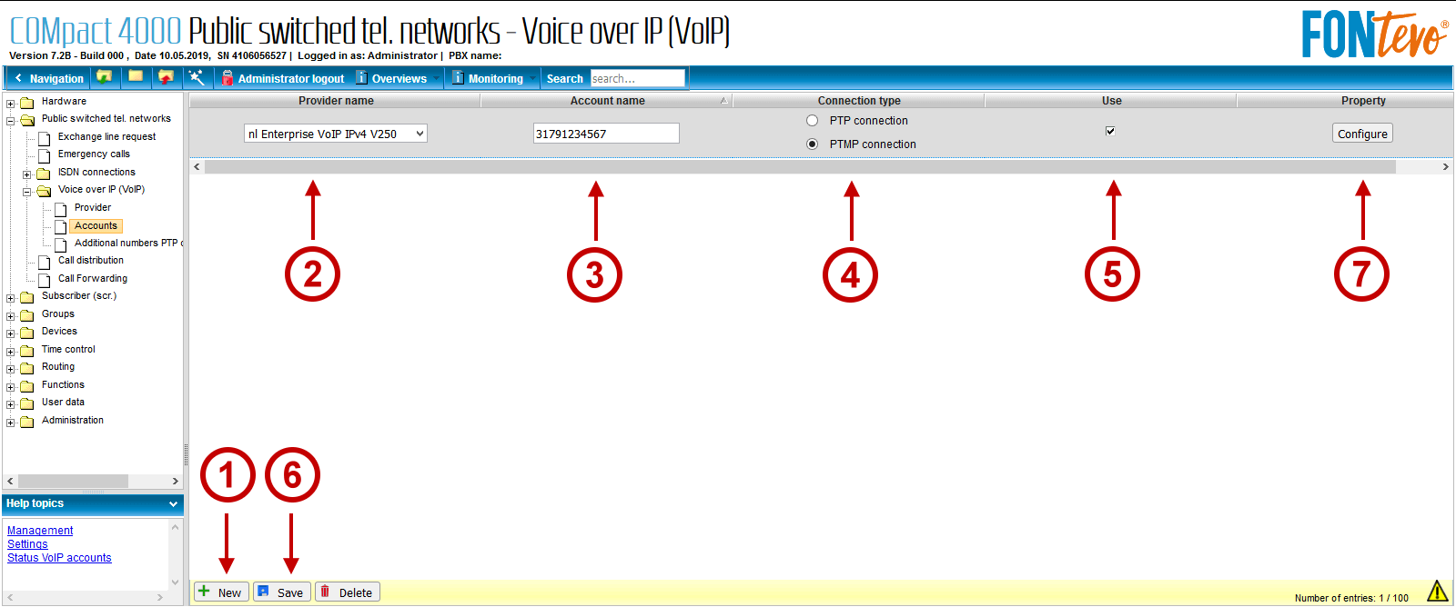 FONtevo en EnterpriseVoIP VoIP account aanmaken 1 van 2